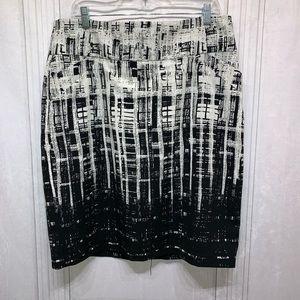 Calvin Klein Black & White Skirt
